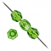 Fire Polished 4mm Green